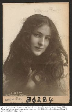 Evelyn Nesbit theatrical cabinet card by Otto Sarony, 1901.