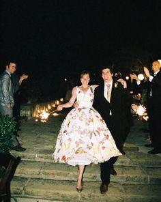 Susan Dean sparklers love her dress