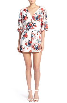 cupcakes and cashmere 'Kirei' Floral Print Romper