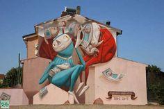 San Gavino - Zed1  #sangavino #sardegna #italia #murales #zed1 #streetart #cercarsineglialtri #totocasu #graffitismo #graffiti