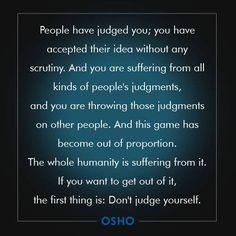 judgements // osho