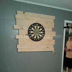 Pallet Dart Board Backing