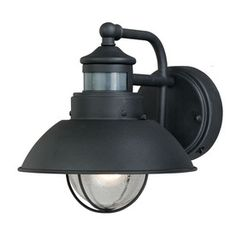 Portfolio�Chesapeake 8-3/4-in H Textured Black Motion Activated Outdoor Wall Light  (also has photocell)  !!  $49.98