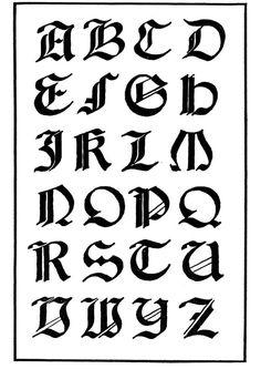 Dibujo para colorear Tipo de letra gótica italiana