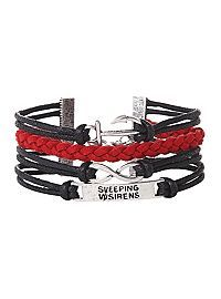 HOTTOPIC.COM - Swimming With Sirens Anchor Infinity Bracelet