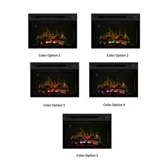 Henderson Distressed Cherry Electric Fireplace Entertainment Center w/Logs…