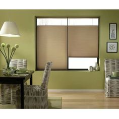 Cordless Top Down Bottom Up Cellular Shades in Antique Linen (48 to 48.5 Inches Wide) (48 1/2W x 84H Antique Linen), Brown (Polyester)