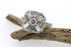 Platinum Engagement Ring  Diamond Ring  by FergusonsFineJewelry