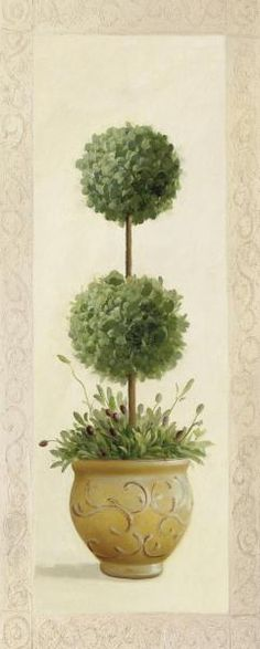 Topiary Topiary Ball II Canvas Art - Welby x - Baroque Painting, Canvas Art, Canvas Prints, Rock Art, Vintage Images, Flower Art, Decoration, Watercolor Art, Fine Art Prints