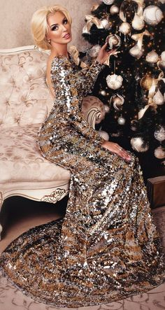 Merry Christmas And Happy New Year, Fashion Face, Gold Dress, Formal Dresses, My Style, Pretty, Orange, Yellow, Classy