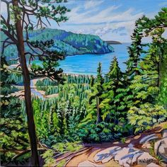 Acrylic on Gallery Canvas Lake Superior Provincial Park Available at Koyman Gallery