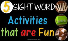 Clever Classroom: 5 Sight Word Activities that are FUN Teaching Sight Words, Sight Words List, Dolch Sight Words, Sight Word Practice, Sight Word Games, Teaching Vocabulary, Teaching Kindergarten, Teaching Reading, Teaching Ideas