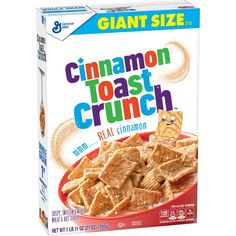 Crunch CerealGeneral Mills Cinnamon Crunch Cereal His favorite spot when traveling. - memes memes General Mills Cinnamon Toast Crunch Cereal Large Size ‑ Shop Cereal at H‑E‑B 1951 Post Sugar Crisp Sugar Bears-Fishing Scene-Breakfast Real Cinnamon, Cinnamon Cereal, Cinnamon Toast Crunch, Whole Grain Foods, Whole Grain Wheat, Whole Grain Cereals, Crunch Cereal, Rice Cereal, Cereal Boxes