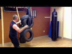 This is a student test driving our new hand made tire dummy. It is used to practice our kali techniques at full power with safety in mind. Punching Bag Diy, Wing Chun Wooden Dummy, Self Defense Techniques, Martial Arts Training, Outdoor Gym, New Tyres, Driving Test, No Equipment Workout, Body Build