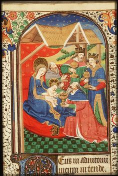 "The adoration of the three Wise Men (Kings) Part of the collection ""Christmas: the birth of Jesus Christ"" - National Library of the Netherlands"