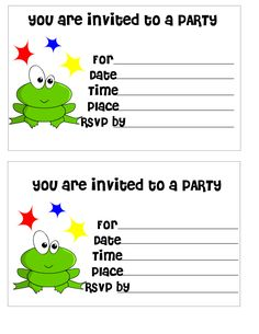 26 best birthdays invitation images on pinterest birthday party birthdays invitationfree printable frog themed birthday invitation for kidsprintable kids birthday invitations filmwisefo