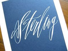 sterling lettering