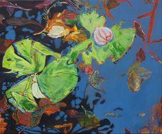 Kirsten Treis: poppelsdorfer weiher 4. Acryl auf Leinwand #Gemälde #Malerei #Acryl #Seerosen #Manet #Bonn #PoppelsdorferWeiher #poppelsdorf #Reflexion #Herbst #Teich #kirstentreis #startyourart www.startyourart.de