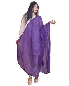 Violet Color  Soft Chiffon Dupatta