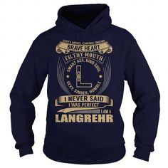 Awesome Tee LANGREHR Last Name, Surname Tshirt T-Shirts