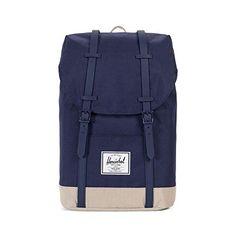 32b7b35bf4 Herschel Retreat Backpack, Peacoat/Eucalyptus, One Size
