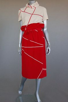 graphic day dress from Dior's Spring-Summer 1963 collection.