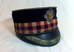 British Military SCOTS FUSILIER GUARDS OFFICERS FORAGE CAP, Crimean war