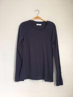 VELVET By Graham & Spencer Dorado Long Sleeve Scoop Neck Shirt Tee Navy S $88 #VelvetbyGrahamSpencer #Tee #Casual