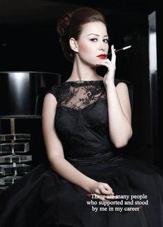 Egyptian actress Menna Shalaby in a Malak El Ezzawy dress