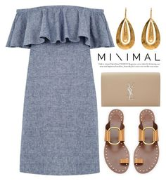 """M i n i m a l  ~ 1713"" by boxthoughts ❤ liked on Polyvore featuring Warehouse, Tory Burch and Yves Saint Laurent"
