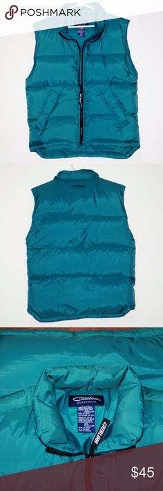 NWOT Real Down Feather Puffer Vest Warm Fall Layer By Catalina Outerwear Geniune Down Feather Puffer Vest Tag Size Ladies Small Shell 100% Nylon NWOT- New without tags or packaging Nice warm addition to the Fall winter wardrobe! Perfect for layering Dark Teal Catalina Outerwear Jackets & Coats Puffers