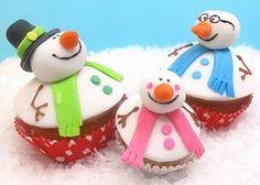 cupcakes bonshommes de neige