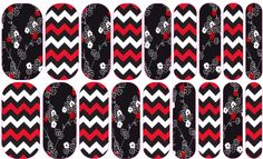 Black & Red Floral/Chevron These Custom Jamberry Nail Wraps have all been personally designed by me. If you'd like to order any of the designs you see here please contact me for details!  Text: (360)840-6186 Email: Jammin.Jessie1@gmail.com Follow me on Facebook: www.facebook.com/jessiesjamberryboutique Check Out My Website:  jessiesobania.jamberry.com #Jamberry #NASDesigns #NailWraps #NailArt #chevron #floral #black #red #white