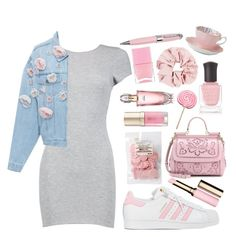 """pink about it"" by rocklikeachampion ❤ liked on Polyvore featuring ICE London, Deborah Lippmann, Avon, Boohoo, Anouki, adidas, Dolce&Gabbana, Clarins, Margaret Dabbs and Nails Inc."