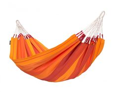 These single person hammocks are the most comfortable and provide the most back support when you lay diagonally on them.