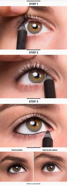 how to apply liquid eyeliner step by step.how to apply liquid eyeliner step by step pictures.how to apply liquid eyeliner to upper lid.how to apply eyeliner step by step with pictures.how to appl Eyeliner Hacks, Khol Eyeliner, Eyeliner Pencil, Black Eyeliner, Eyeliner Ideas, Eyeliner Brush, Purple Eyeliner, Tips For Eyeliner, Make Up Tutorial