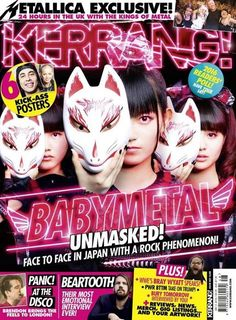 The moment we've been waiting for is finally here!  #BABYMETAL is featured on the cover of #Kerrang!'s latest issue! #BabyandMother #BabyClothing #BabyCare #BabyAccessories