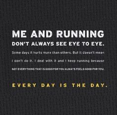 Running and I rarely ever see eye to eye, but when we do, all that painful work is worth it.