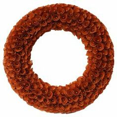 """Curls of birch wood create an array of rosettes, adding lovely appeal to this eye-catching wreath. Display this charming design on your console or above your mantel for touch of natural style.     Product: Wreath Construction Material: Birch wood shavings and foam Color: Red   Dimensions: 20"""" Diameter"""