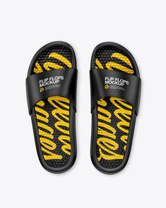 174d23d31 Matte Flip Flops Mockup – Top View