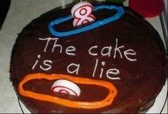Portal Cake - For Luke's birthday Cake Boss, Portal Cake, Portal 2, Portal Memes, Funny Birthday Cakes, Birthday Jokes, 22nd Birthday, Birthday Parties, Birthday Ideas
