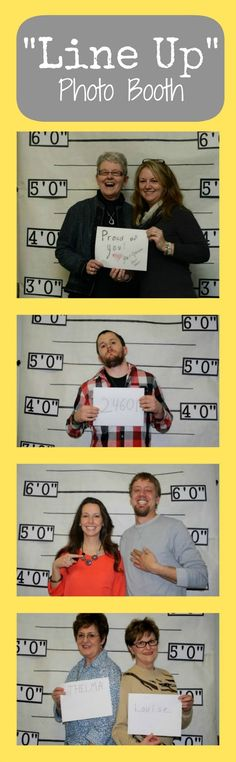 Line Up Photo Booth for law enforcement graduation party!  I took these photos at a party!  The ones in the picture!   Anyone else see my brother's Les Miserables reference?