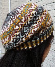 Tourbillon by Angela Sixian Wu Fair Isle Knitting, Knitting Yarn, Free Knitting, Knitting Patterns, Knitting Ideas, Tam O' Shanter, Fair Isles, Fair Isle Pattern, Knitting Magazine