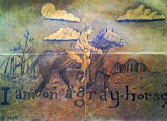 "Grey Horse  1979  4"" x 6"""