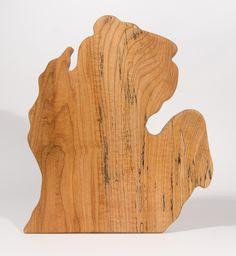 Lower Peninsula Cutting Board - Single Block - MSU Surplus Store