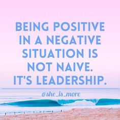 Being the positive one in a place where there is negativity makes you a leader. Embrace it. • • • • #sheismore #leadership #tagafriend #positivevibes #positivity #love #Jesus #faith #believe #truth