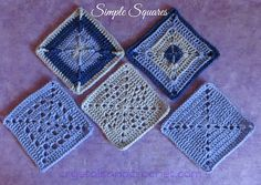 Ravelry: Simple Squares pattern by Helen Shrimpton