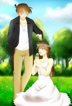 Ran And Shinichi, Kaito Kid, Detektif Conan, Magic Kaito, Detective, Anime, Couples, Couple, Cool Drawings