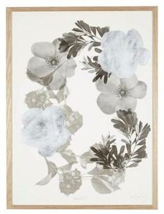 Bonnie and Neil Floral Framed Print Silver | Bonnie and Neil – Salt Living or online at www.saltliving.com.au #saltliving #bonnieandneil #screenprinting #linen #print
