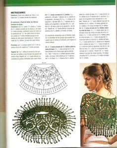 Patrones Crochet: Chal con Flecos Guirnaldas Patron